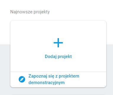 Dodaj projekt - firebase
